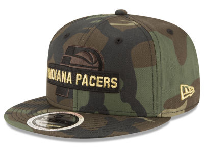 Indiana Pacers New Era NBA Gold Word 9FIFTY Snapback Cap