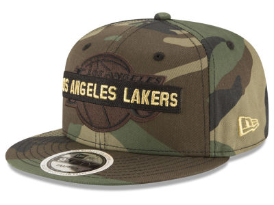 Los Angeles Lakers New Era NBA Gold Word 9FIFTY Snapback Cap