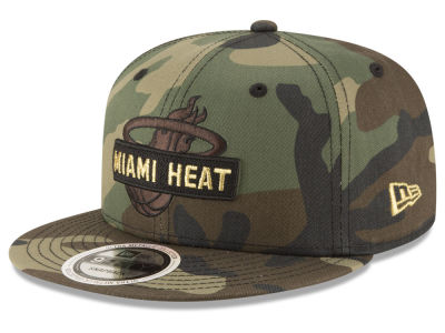 Miami Heat New Era NBA Gold Word 9FIFTY Snapback Cap