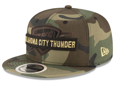 Oklahoma City Thunder New Era NBA Gold Word 9FIFTY Snapback Cap