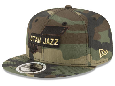 Utah Jazz New Era NBA Gold Word 9FIFTY Snapback Cap