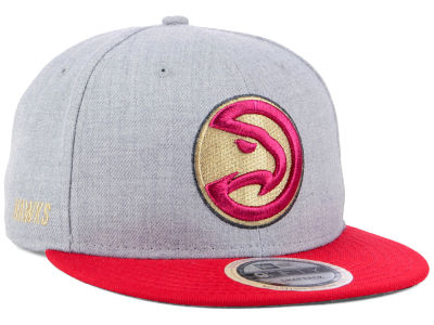 Atlanta Hawks New Era NBA Heather Metallic 9FIFTY Snapback Cap