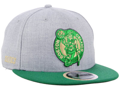 Boston Celtics New Era NBA Heather Metallic 9FIFTY Snapback Cap