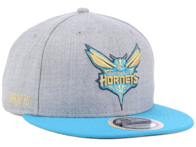 Charlotte Hornets New Era NBA Heather Metallic 9FIFTY Snapback Cap
