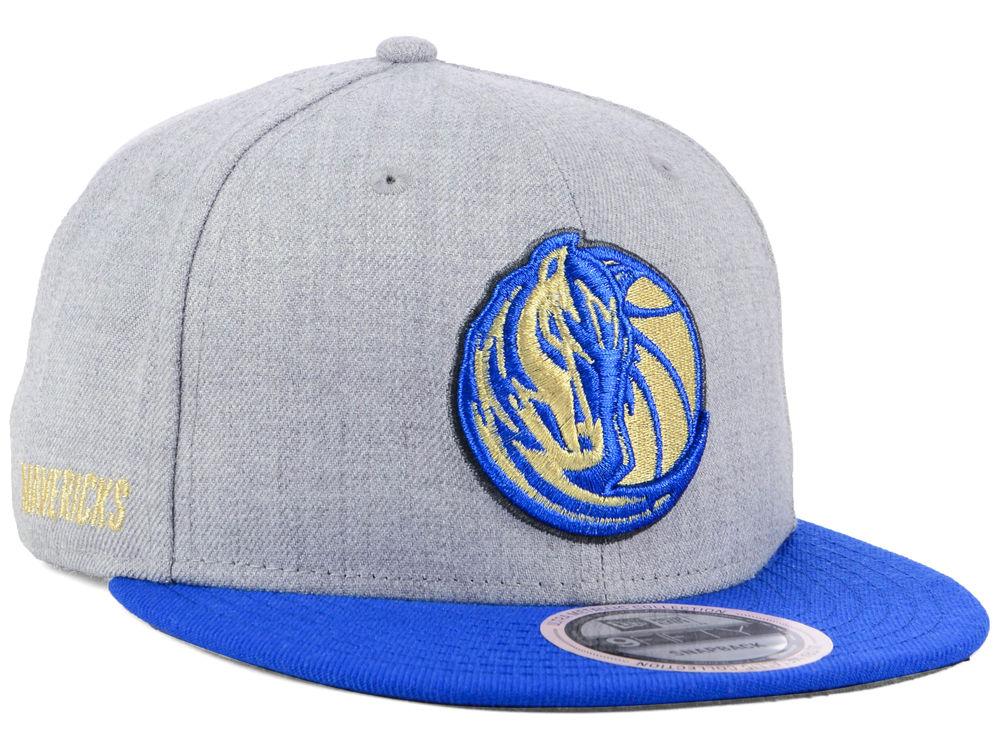 wholesale dealer 4ea67 f923e Dallas Mavericks New Era NBA Heather Metallic 9FIFTY Snapback Cap   lids.com