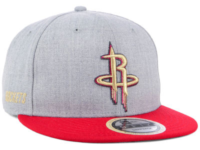 Houston Rockets New Era NBA Heather Metallic 9FIFTY Snapback Cap