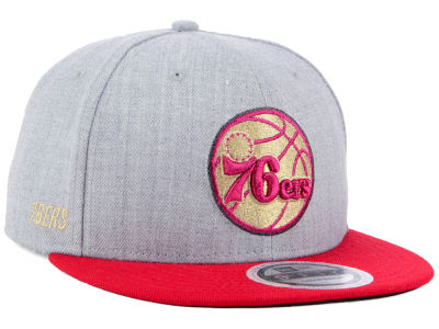 Philadelphia 76ers New Era NBA Heather Metallic 9FIFTY Snapback Cap