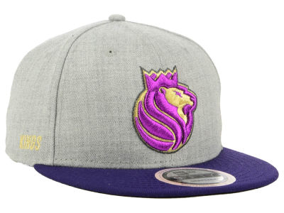 Sacramento Kings New Era NBA Heather Metallic 9FIFTY Snapback Cap