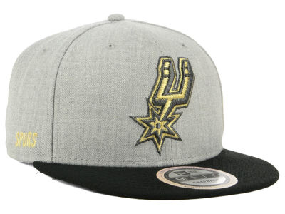 San Antonio Spurs New Era NBA Heather Metallic 9FIFTY Snapback Cap
