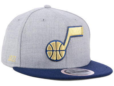 Utah Jazz New Era NBA Heather Metallic 9FIFTY Snapback Cap
