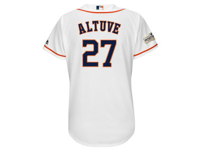 Houston Astros Jose Altuve Majestic 2017 MLB Women's World Series Champ Team Player Patch Jersey