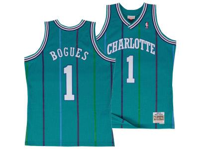 Charlotte Hornets Muggsy Bogues Mitchell   Ness NBA Men s Hardwood Classic  Swingman Jersey 443bba561
