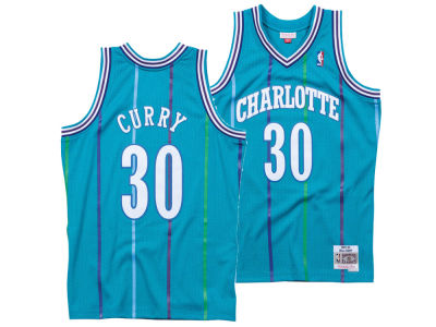 Charlotte Hornets Dell Curry Mitchell & Ness NBA Men's Hardwood Classic Swingman Jersey