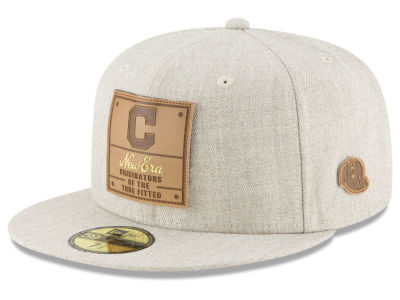 Cleveland Indians New Era MLB Vintage Oatmeal 59FIFTY Cap