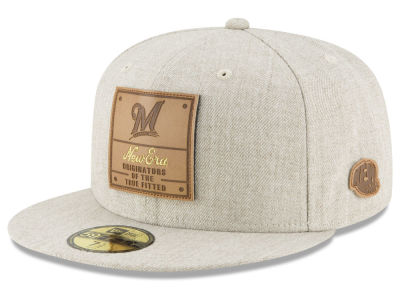 Milwaukee Brewers New Era MLB Vintage Oatmeal 59FIFTY Cap