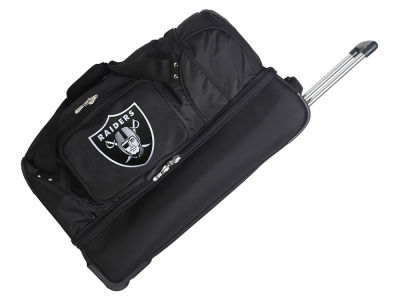 Oakland Raiders 27in Wheeled Duffel Bag V