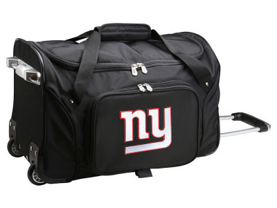 New York Giants 22in Wheeled Duffel Bag V