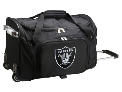 Oakland Raiders 22in Wheeled Duffel Bag V