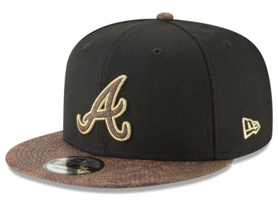 Atlanta Braves New Era MLB Gold Snake 9FIFTY Snapback Cap