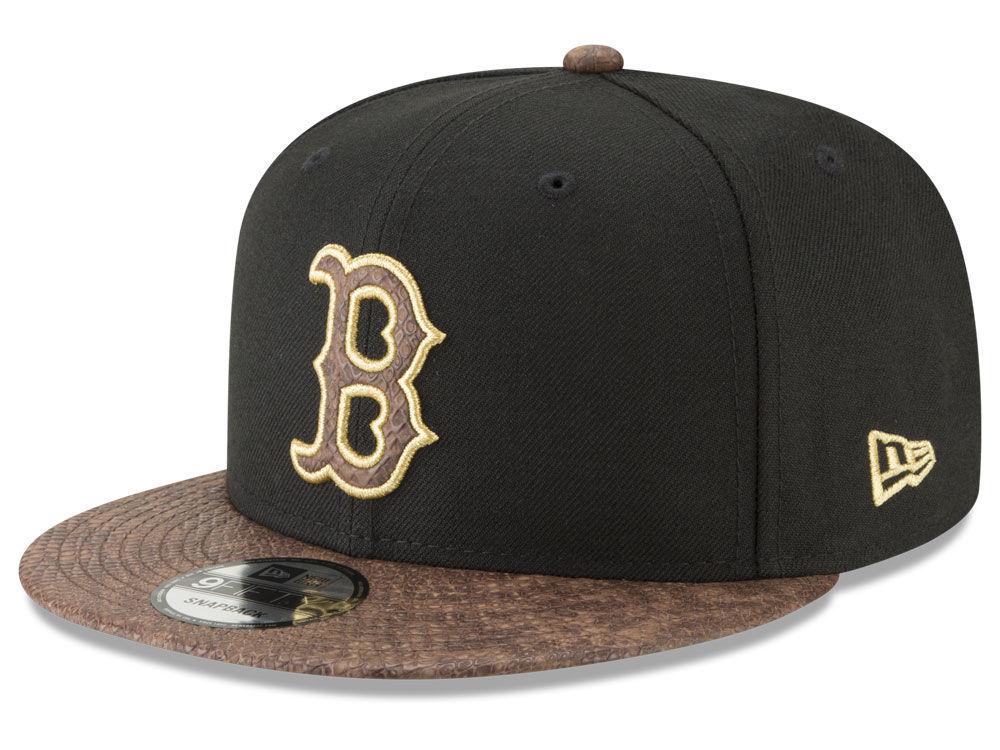 Boston Red Sox New Era MLB Gold Snake 9FIFTY Snapback Cap  7c8d5c81a8b