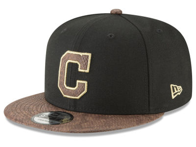 Cleveland Indians New Era MLB Gold Snake 9FIFTY Snapback Cap