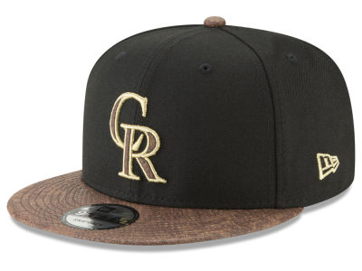 Colorado Rockies New Era MLB Gold Snake 9FIFTY Snapback Cap