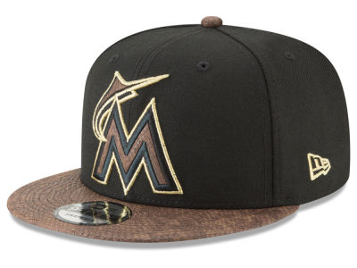 Miami Marlins New Era MLB Gold Snake 9FIFTY Snapback Cap