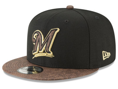 Milwaukee Brewers New Era MLB Gold Snake 9FIFTY Snapback Cap