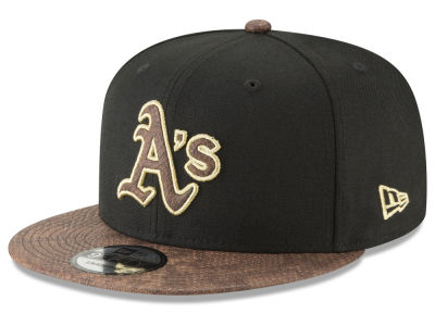 Oakland Athletics New Era MLB Gold Snake 9FIFTY Snapback Cap