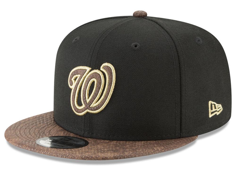 pretty nice a3720 bf975 Washington Nationals New Era MLB Gold Snake 9FIFTY Snapback Cap   lids.com