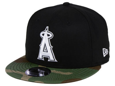 reputable site 0fb9b f732e ... coupon code for los angeles angels new era mlb woodland black white  9fifty snapback cap 8926b