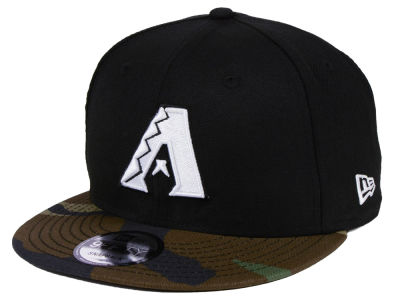 Arizona Diamondbacks New Era MLB Woodland Black/White 9FIFTY Snapback Cap