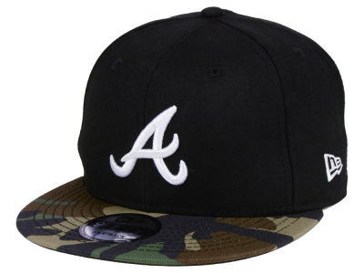 Atlanta Braves New Era MLB Woodland Black/White 9FIFTY Snapback Cap