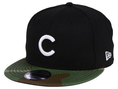 Chicago Cubs New Era MLB Woodland Black/White 9FIFTY Snapback Cap