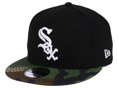 Chicago White Sox New Era MLB Woodland Black/White 9FIFTY Snapback Cap