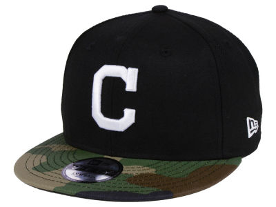 Cleveland Indians New Era MLB Woodland Black/White 9FIFTY Snapback Cap