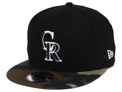 Colorado Rockies New Era MLB Woodland Black/White 9FIFTY Snapback Cap