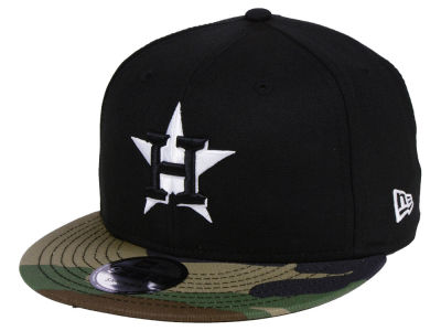 Houston Astros New Era MLB Woodland Black/White 9FIFTY Snapback Cap