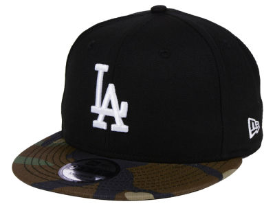 Los Angeles Dodgers New Era MLB Woodland Black/White 9FIFTY Snapback Cap
