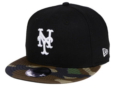 New York Mets New Era MLB Woodland Black/White 9FIFTY Snapback Cap