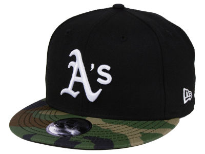 Oakland Athletics New Era MLB Woodland Black/White 9FIFTY Snapback Cap