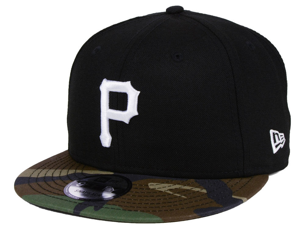 super popular 4c027 d6b33 ... release date pittsburgh pirates new era mlb woodland black white 9fifty  snapback cap lids ce487 aeeac