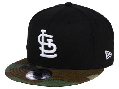 St. Louis Cardinals New Era MLB Woodland Black/White 9FIFTY Snapback Cap