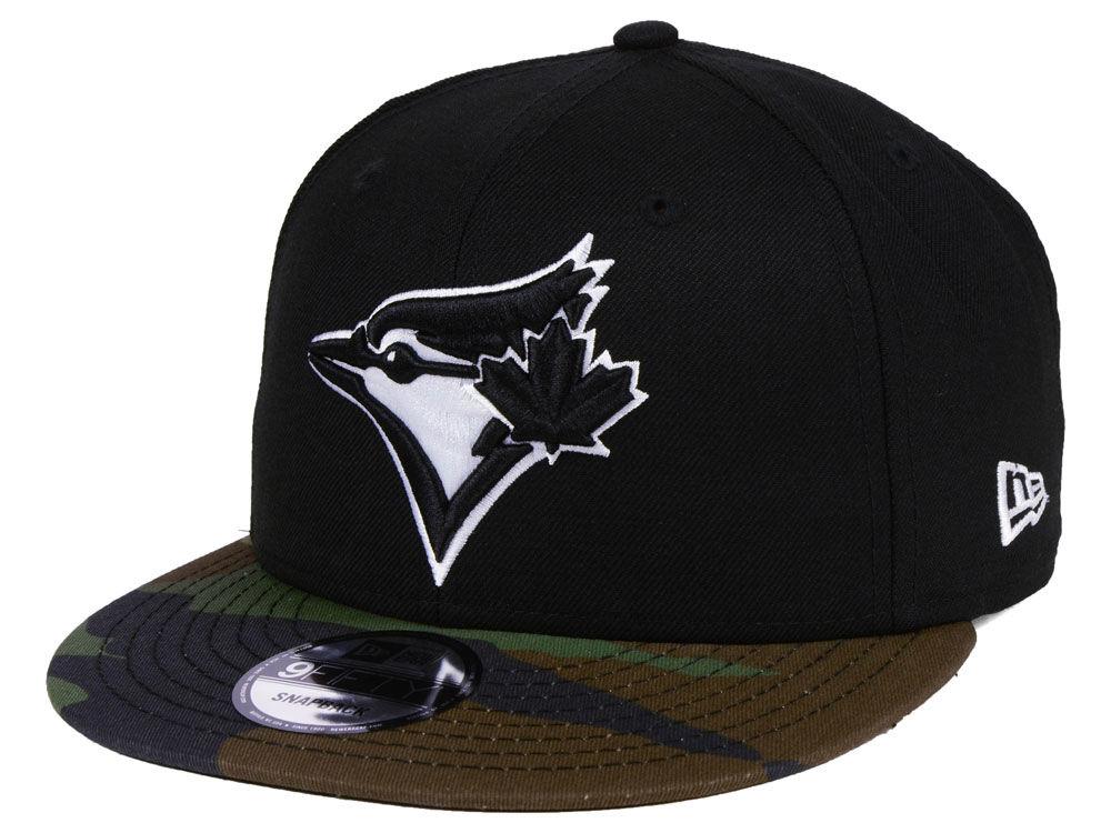 Toronto Blue Jays New Era MLB Woodland Black White 9FIFTY Snapback Cap  fdaaf2fca1d