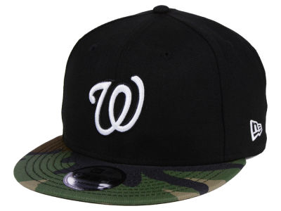 Washington Nationals New Era MLB Woodland Black/White 9FIFTY Snapback Cap