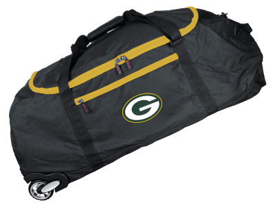 Green Bay Packers Mojo 36in Checked In Rolling Duffel