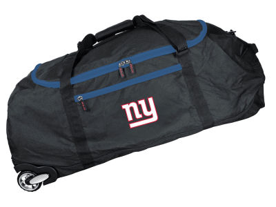 New York Giants 36in Checked In Rolling Duffel V
