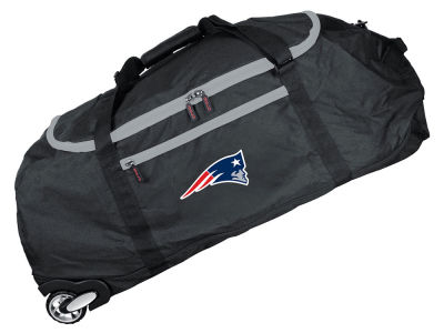 New England Patriots Mojo 36in Checked In Rolling Duffel