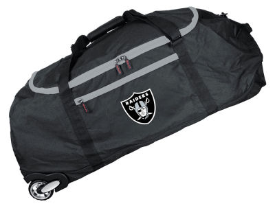 Oakland Raiders 36in Checked In Rolling Duffel V