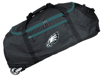 Philadelphia Eagles Mojo 36in Checked In Rolling Duffel